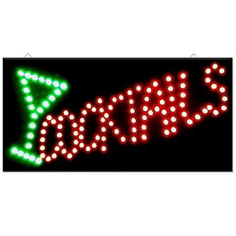 Cocktail Drinks Bar Pub Club Window Display Led Light Sign Lamp Home Restaurant Shop Disco Gift 48cm x