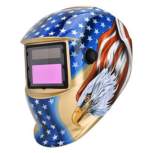 Schweißhelm, Solar Power Schweißer Gesichtsmaske mit automatischer Verdunkelung und UV Schutz -