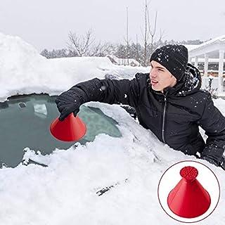 Eiskratzer Auto, A Rund Kratzen-Schneeschaufel Werkzeug Scheibenkratzer Auto Windschild Eiskratzer Schnell(Rot, 14cm)