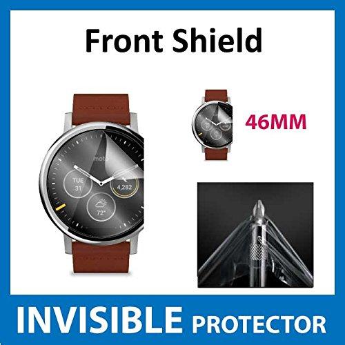 ACE UNSICHTBARE Displayschutzfolie für Ihr Motorola Moto 360 46mm (2nd Gen) Smart Watch (Front) welche aus einem kratzfesten Material hergestellt Wird Gen Invisibleshield
