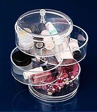 Beautiful Life * Acrílico organizador cosmético transparentes 4 compartimientos para los lazos para el cabello, esmalte de uñas, joyas