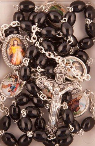 Mit Perlen Aus Glas schwarz Rosary. rosary. Rosenkranz mit Glasperlen Rosary..