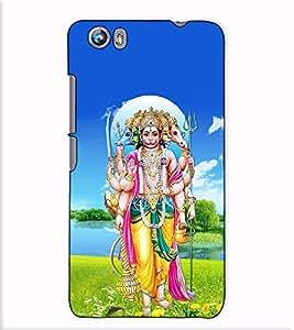 Fuson Designer Back Case Cover for Micromax Canvas Fire 4 A107 (Panchmukhi Hanuman theme)