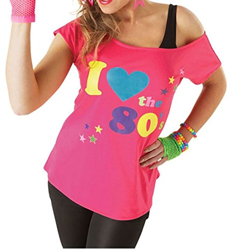 Deluxe I Love The 80's Damen T-Shirt Pop -