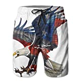 American Eagle House Men's Summer Beach Quick-Dry Surf Swim Trunks Boardshorts Cargo Pants