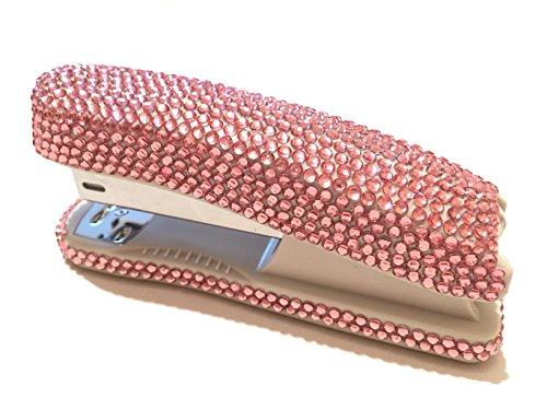 blingustyle Bling Bling iridiscente diamante cristal grapadora para oficina/casa, color rosa 14 x 3 x 6 cm