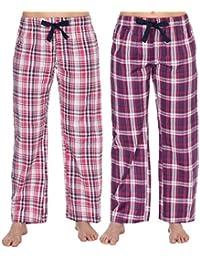 41ff0b5419 Donna Pantaloni da Casa Pigiama Pantaloni pigiama Pantaloni (confezione da  2)