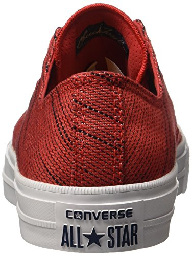 Chaussures De Sport Converse Chuck Taylor All Star Ii Ox, Unisexe Rouge / Blanc