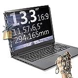 Xianan 13,3 zoll 16:9 Breitbild Displayfilter Bildschirmfilter 11,57x6,5zoll/294x165mm Displayschutz Blickschutzfolie Sichtschutzfolie Privacy Filter