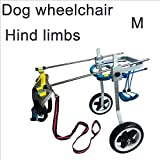 MOIMK Bicicleta para Mascotas, Silla De Ruedas Ajustable para Perros, Scooter para Perros, Perro Discapacitado, Asistente, Ejercicio para Piernas, Rehabilitación De Piernas Traseras, Peso Ligero,M
