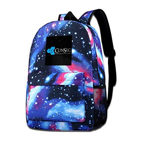 Galaxy bedruckte Schultertasche ConSec Waffen und Sicherheitssysteme Scanner, Trucker Cap Fashion Casual Star Sky Rucksack für Jungen & Mädchen