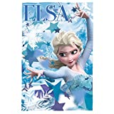 Disney wd19290 Frozen – ELSA 150 cm x 100 cm Polar Fleece Decke