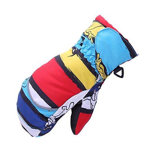 Butterme Sport invernali antivento impermeabile Guanti riscaldati Sci snowboard guanti pieni spessa termico guanti in (Capannone All'aperto)
