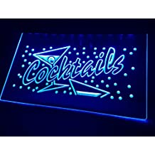 Cócteles Neon LED Cartel Cartel nostálgico Publicidad