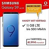 Samsung Galaxy S9 Dual Sim (coral blue) 64GB Speicher Handy mit Vertrag (Vodafone Smart XL) 11GB Datenvolumen 24 Monate Mindestlaufzeit [Exklusiv bei Amazon]