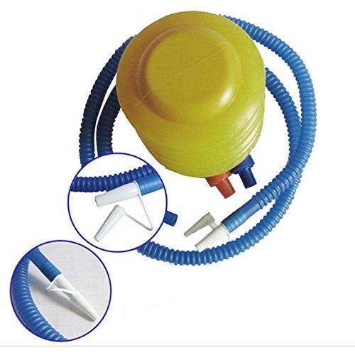 OFT Yoga Pumpe Gymnastikball Fuß Luftpumpe (blau+gelb)