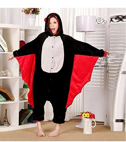 Imagen de colorfulworld kigurumi pijamas juguetes y juegos animal ropa animales pijama cosplay disfraces xl, murciélago
