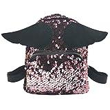 UFACE Fashion Lady Multicolor Pailletten FlüGel Schulter Messenger Bag Rucksack Mode MäDchen Squins Schultasche Trave Schultertasche (Rosa)