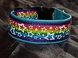 Hunde Halsband Regenbogen Sterne