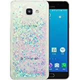 "Coque Samsung Galaxy A5 2016 Silicone Nnopbeclik® Paillettes Briller Style Backcover Doux Soft Transparente Housse pour Samsung Galaxy A5 2016 Coque Silicone ""A510F"" (5.2 Pouce) Antichoc Protection Antiglisse Anti-Scratch Etui ""NOT FOR A5 2017/2015"" - [Bleu2]"