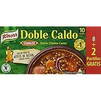 Knorr Doble Caldo en Pastilla de Carne con Aceite de Oliva - Paquete de 24 x 10 Pastillas - Total: 240 Pastillas