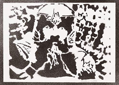 Gimli Herr Der Ringe (The Lord Of The Rings) Poster Plakat Handmade Graffiti Street Art - ()