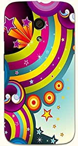 Wonderful multicolor printed protective REBEL mobile back cover for Motorola Moto G (2014) 1st Gen D.No.N-R-3597-MG1