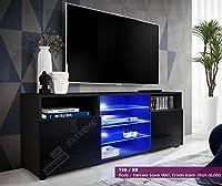 T38-146cm - Cabinet Media Center TV Console Stand Entertainment Furniture Modern Shelf LED