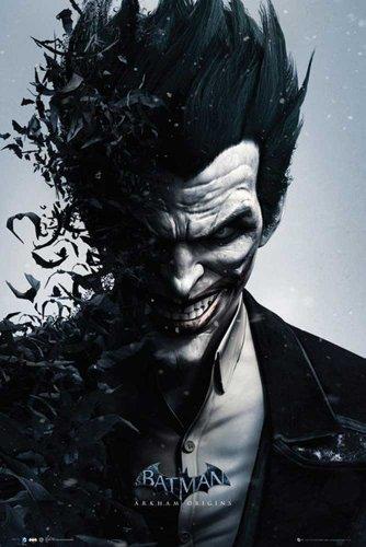 Empire Merchandising GmbH - Poster di Batman Arkham Origins Joker, con cornice multicolore