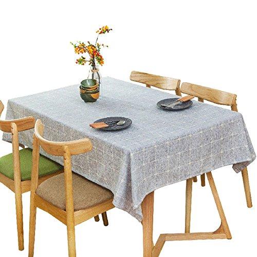 ASL Nappe, Pique-Nique Couverture Tissu Rétro Gris Clair Nappe Table à Dîner Petite Table Ronde Longue Table Nappe Café Boutique Nappe Nappe 60-240cm sélectionner (taille : 60 * 120cm)