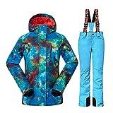 Wonny 2 Teilig Skianzug Wasserdicht Schneeanzug Jacke und Hosen Unisex Skiset...