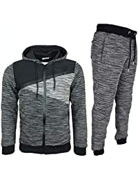 2fbeb586a Mens Tracksuit Set New Contrast Cord Bottoms Jogging Zip Joggers Gym Sport  Sweat Suit Pants Plus
