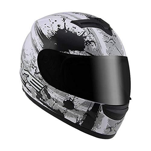 Betrothales Casco Sportivo Caschi Casco Integrale Moto Rullo Caduta Casco Casco Visiera Specchio Visiera Con Visiera Parasole (56-60 Cm) Saldi (Color : E-Size)