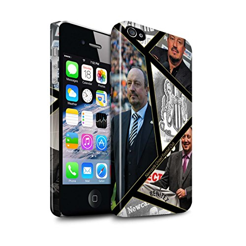 Offiziell Newcastle United FC Hülle / Glanz Snap-On Case für Apple iPhone 4/4S / Pack 8pcs Muster / NUFC Rafa Benítez Kollektion Montage