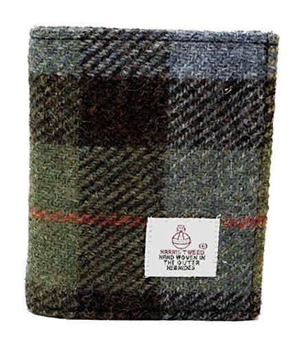 Traditionelle Harris Tweed und echtes Leder Geldbörse Geschenk verpackt Wahl...