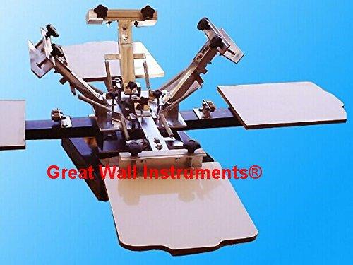 4Farbe 4Station DOUBLE Rotary Bildschirm Drucker Siebdruck Presse durch Gw Siebdruck Drucker