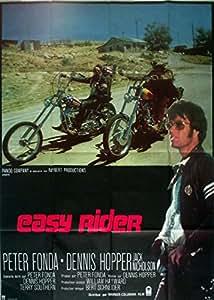Affiche de cinéma originale - EASY RIDER - Dennis Hopper - format 120 x 160 cm
