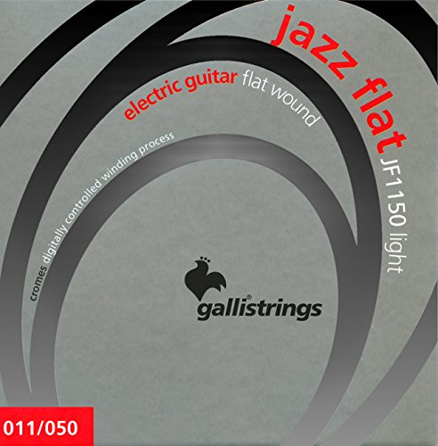 Gallistrings JF1150 Jazz Flat Electric Light/.011-.050 Guitar Strings (Plain Steel und Polished Stainless Steel Flat)