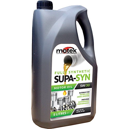 MOTEK Synthetisches Motoröl Supa-Syn, Viskosität 5W-30, 5Liter (Synthetisches Motoröl 5 Liter)