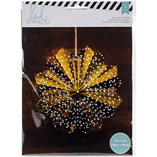 American Crafts Heidi Swapp 8 points Star Lanterne en papier aluminium doré 43 cm, acrylique, multicolore