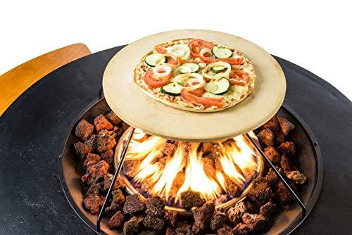 Mania Pizzastein Universal Gasgrill Pizzaschieber Brotbackstein Grill Grill-Zubehör 40x40cm