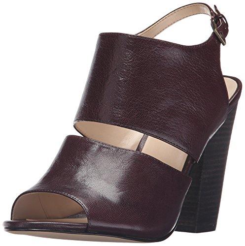 Nine West Womens Oresah Leather Dress Sandal Wine