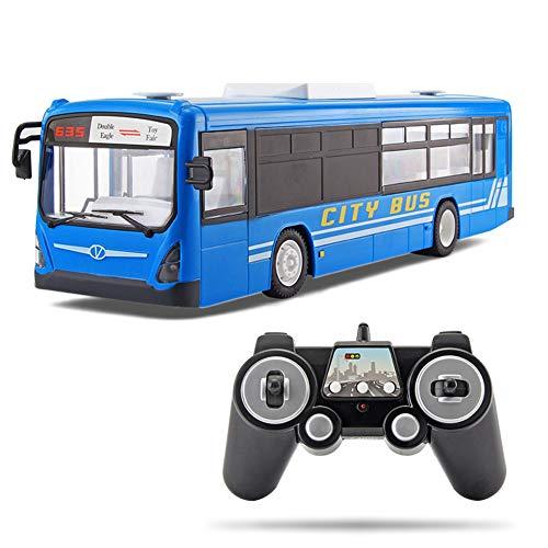 Fernbedienung Bus City Express FüR Jungen Und MäDchen RC Car 6 Kanal 2.4G Fernbedienung High Speed One Key Start Function Bus Mit Realistischem Sound Und Licht