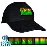 LED-Fashion - Gorra (con sonido y luz), diseño de ecualizador 10-Kanal-Equalizer Talla:universell