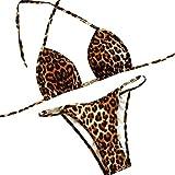273575f69047 Filfeel Costume da Bagno Bikini da Bagno Donna Sexy con Stampa Leopardata(M)