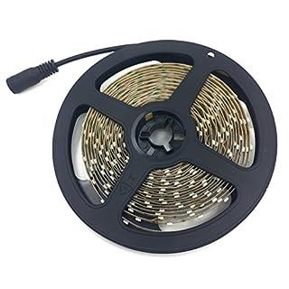 LED Band 5M 12VDC, Alfa 3000K warmweiß, 300 Stück 3528 LEDs, insgesamt 1200lm, led diy Streifen Lichtleiste Lichtband led strip Lichterkette,nicht enthalten LED Power/Transformator