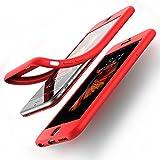 coque iPhone 6/6S - Couvercle avant ultra mince à 360° Housse de protection en silicone pleine protection du téléphone, DECHYI (4.7 '-Rouge)