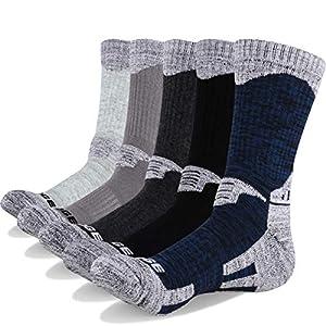 51mLZi9IucL. SS300  - YUEDGE Men's Cotton Cushion Crew Sports Socks Outdoor Performance Hiking Walking Socks(5 Pairs)