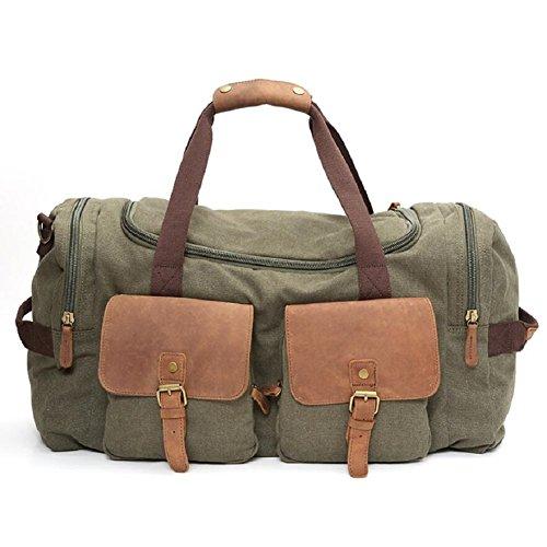 LJ&L Outdoor-Leinwand Männer und Frauen allgemeine Schultertasche, Reise-Reise multifunktionale Handtasche, 55 Liter große Kapazität praktische Verschleiß Umhängetasche B