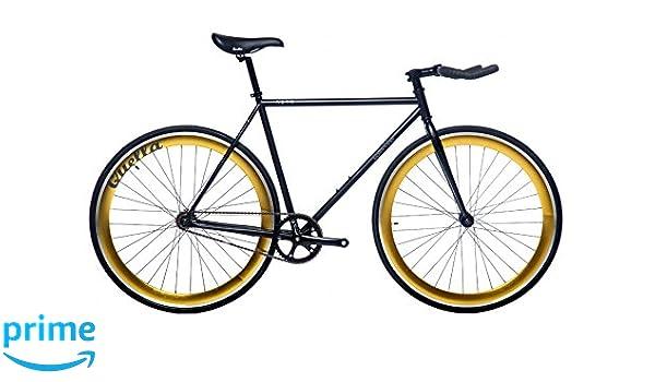 Quella Nero Bike - Black/Gold, Small/Medium/54 cm: Amazon.co.uk ...